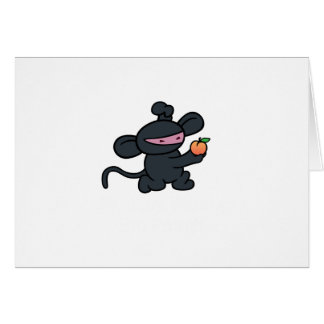 Ninja Monkey Steals the Peach Greeting Card