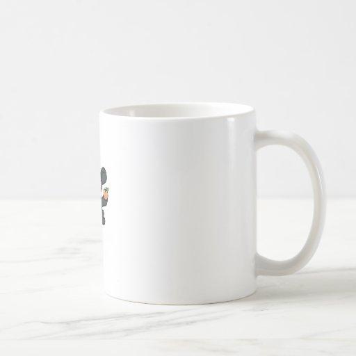 Ninja Monkey Steals the Peach Coffee Mugs
