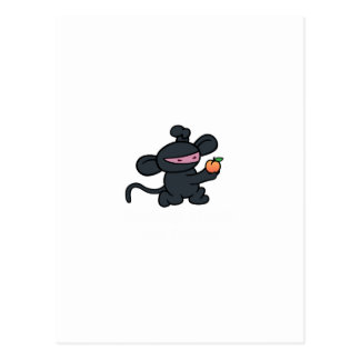 Ninja Monkey Steals the Peach Postcard