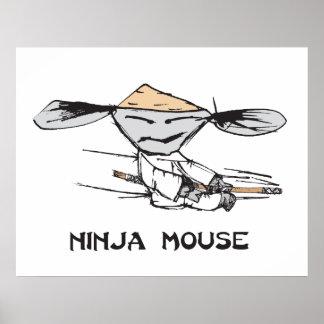 Ninja Mouse Poster