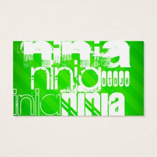 Ninja; Neon Green Stripes.