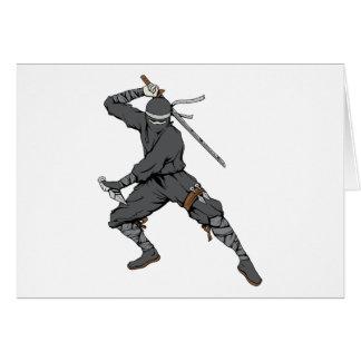 Ninja ~ Ninjas 2 Martial Arts Warrior Fantasy Art Greeting Card