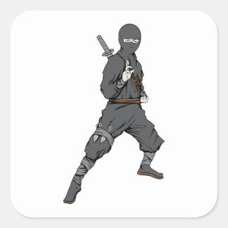 Ninja ~ Ninjas 5 Martial Arts Warrior Fantasy Art Square Sticker