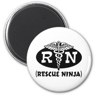 Ninja Nurse 6 Cm Round Magnet