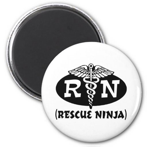 Ninja Nurse Refrigerator Magnet