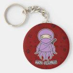 Ninja Octopus! In Red Keychain