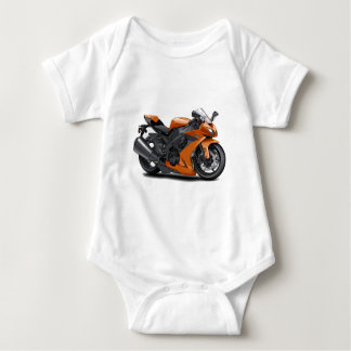 Ninja Orange Bike Baby Bodysuit