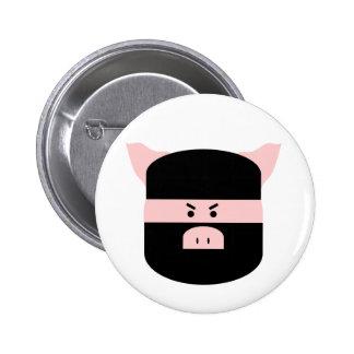 Ninja Pig! 6 Cm Round Badge