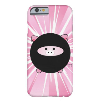 Ninja Pig on Pink Barely There iPhone 6 Case