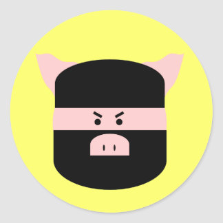 Ninja Pig! Round Sticker