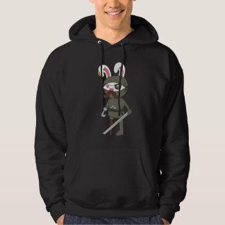 Ninja Pirate Moustache Bunny Hoodie
