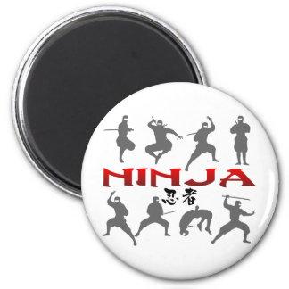 Ninja Pose Silhouette Magnet