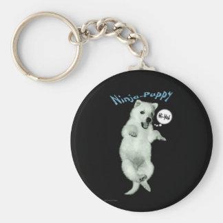 Ninja Puppy Basic Round Button Key Ring