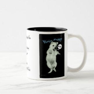 Ninja Puppy Two-Tone Mug