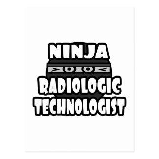 Ninja Radiologic Technologist Postcard