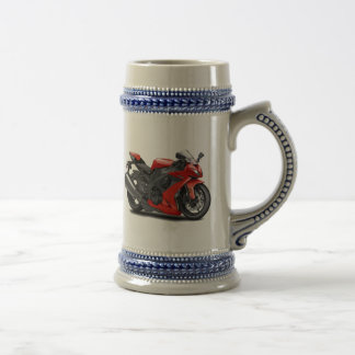 Ninja Red Bike Beer Stein