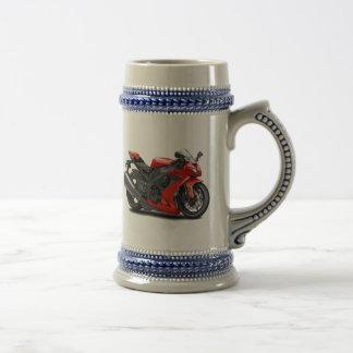 Ninja Red Bike Coffee Mug