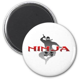 Ninja Silhouette 6 Cm Round Magnet