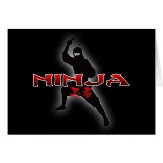 Ninja Silhouette Greeting Card