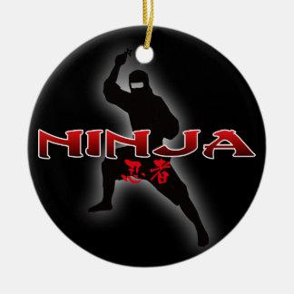 Ninja Silhouette Christmas Ornament