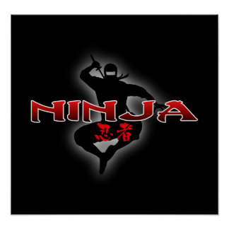 Ninja Silhouette Poster