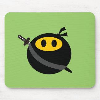Ninja smiley face mouse mat
