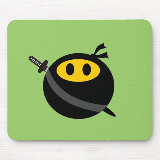 Ninja smiley face mouse pads