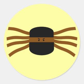 Ninja Spiders! Round Sticker