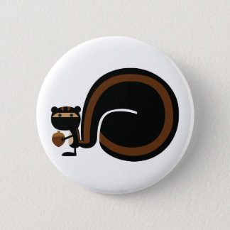 Ninja Squirrel 6 Cm Round Badge