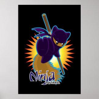 Ninja Squirrel Poster