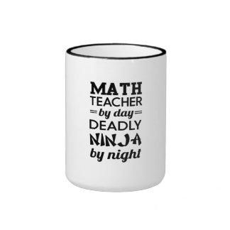 Ninja Teacher Ringer Mug