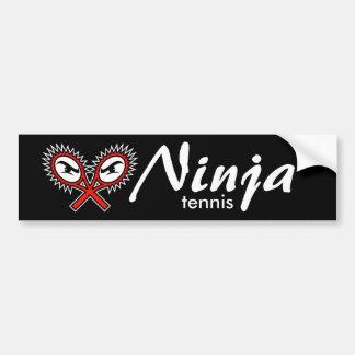 ninja tennis bumper sticker