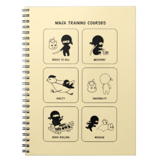 Ninja Training Courses, Custom Color Spiral Notebook