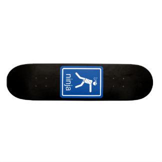 ninja universal sign. skate board