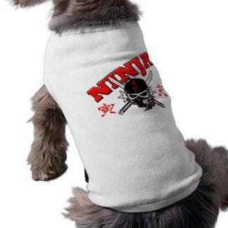 Ninja Warrior Sleeveless Dog Shirt