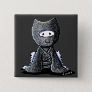 Ninja Westie 15 Cm Square Badge