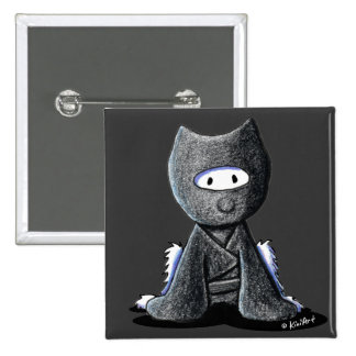 Ninja Westie 15 Cm Square Badge