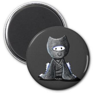 Ninja Westie 6 Cm Round Magnet