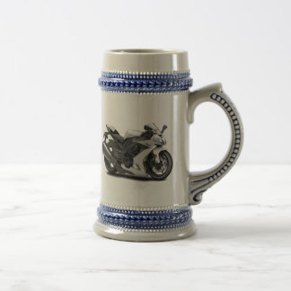 Ninja White Bike Beer Stein