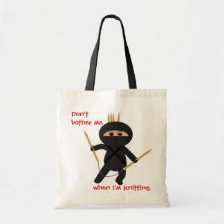 Ninja With Circular Knitting Needles Bag