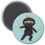 Ninja With Circular Knitting Needles Magnet