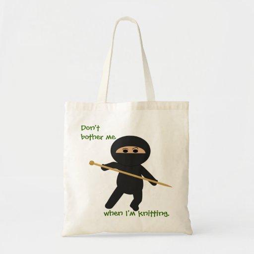 Ninja With Knitting Needle Bag
