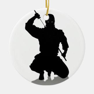 Ninja with Sword Christmas Ornament