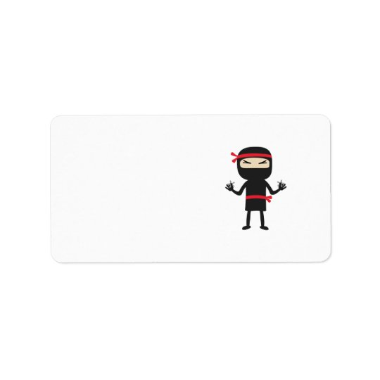 ninja with weapon label