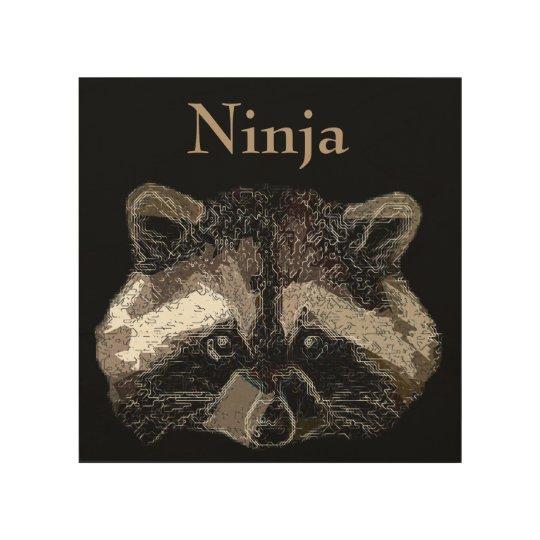 Ninja Wood Wall Art