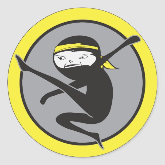 Ninja Yellow Belt Stickers