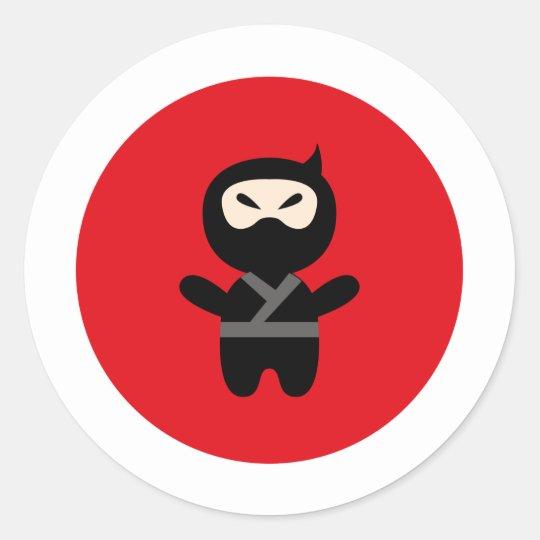 NinjaCutie4 Classic Round Sticker