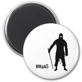 Ninjas 6 Cm Round Magnet