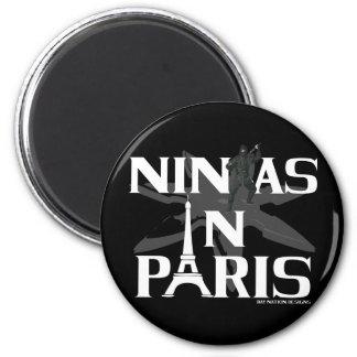 Ninjas In Paris Refrigerator Magnets