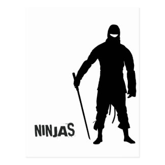 Ninjas Postcard